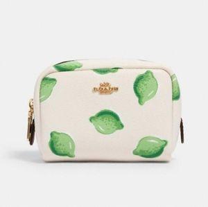NWT COACH Mini Boxy Cosmetics Case
